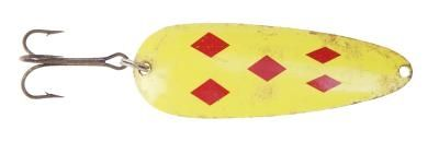 five-of-diamonds yellow spoon lure for Northern Pike