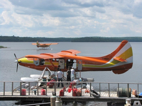 Float Plane Loading for Fly-In Fishing