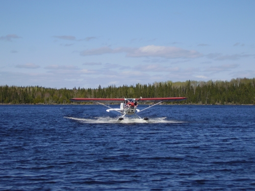 The plane has landed at Spine Lake.  What a great way to start your fishing adventure in Canada's great outdoors.  Care to join us?