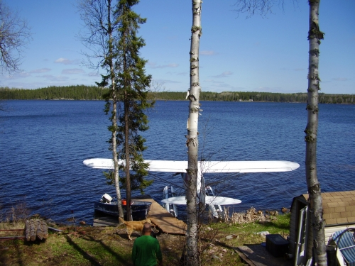 The plane's landed at Spine Lake and the gear's all here.  Time to hit the lake for some fishing.