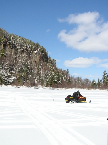 What better way to spend a beautiful, sunny, winter day than to get on the snowmobile and head out ice fishing.  With lots of lakes in the Patricia Region to choose from, the only hard part is deciding where to go!