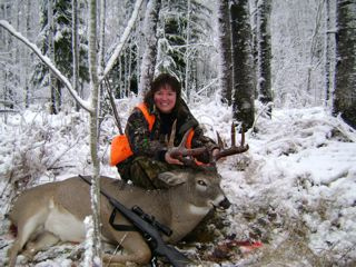 What a great adventure and successful day of whitetail deer hunting in the Patricia Region.  The hunter is all smiles =)