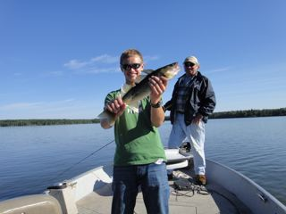 Sunshine, blue skies, open water and great fishing.  What more could one ask for on a vacation.