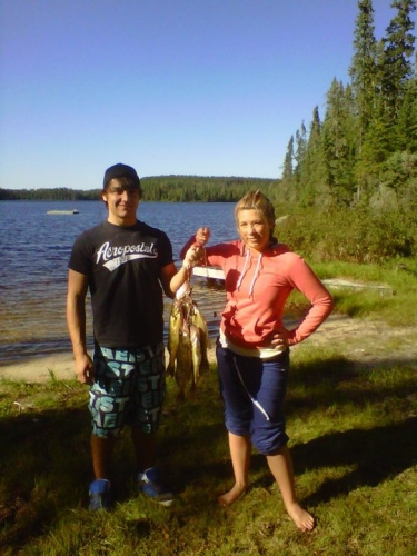 Fishing never gets old! Here is Ryan Hansson and I with our catch!