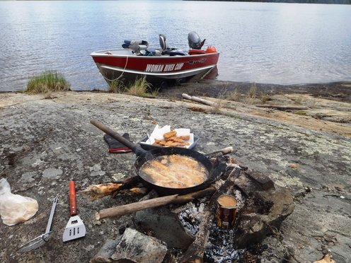 A delicious fish fry. Photo sent in by Woman River Camp!