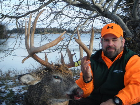 A nice buck! Shot by one of our visiting hunters.