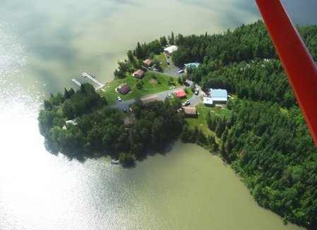 A beautiful aerial view of Indian Point Camp! Just look at the lake and how inviting the camp is. Can you see yourself here?