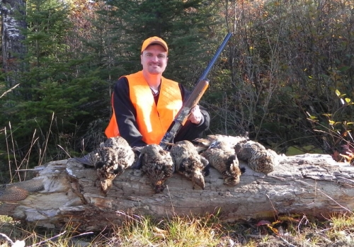 Five good sized grouse! Grouse are abundant in Northwestern Ontario. They make for a fun hunt, and a better meal!
