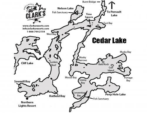 cedar lake fishing map