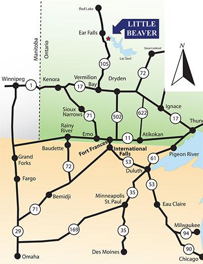 Gawleys Little Beaver Lodge Map