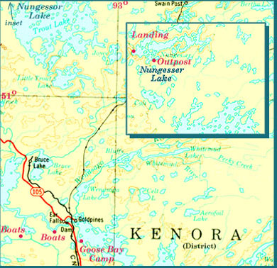 Northwest Ontario Fishing Map