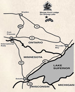 Moose Point Lodge Map