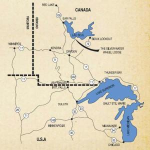 Lac Seul Fishing Map