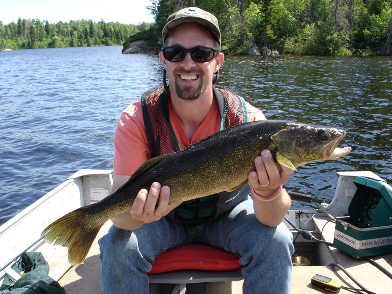 Sydney Lake Lodge Walleye Fishing