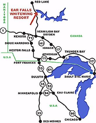 Whitewing Resort Fishing Map