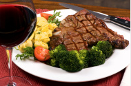 Venison Steak in Wine
